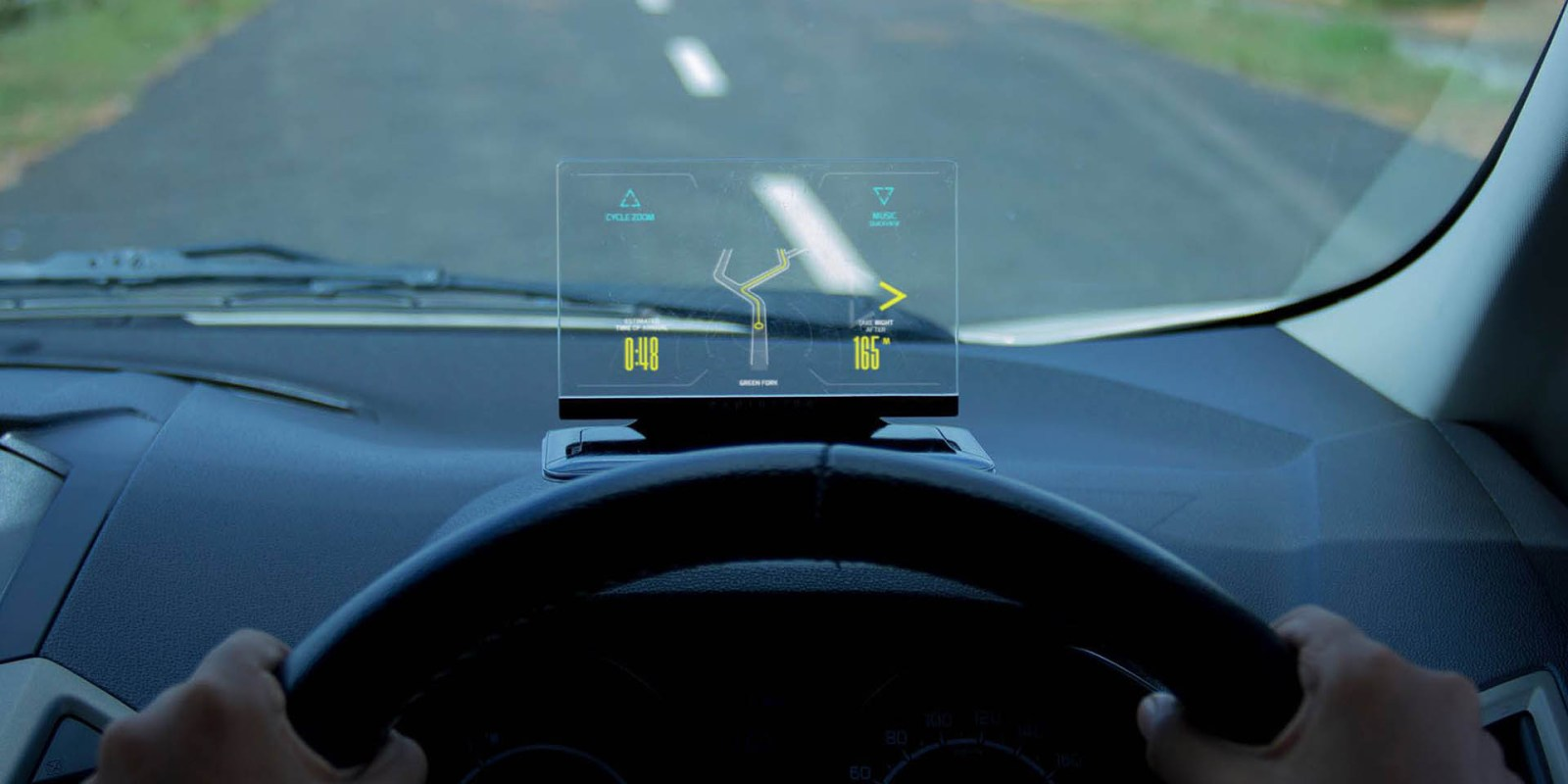 Exploride combines the best iPhone features into one safe head-up display unit for your car
