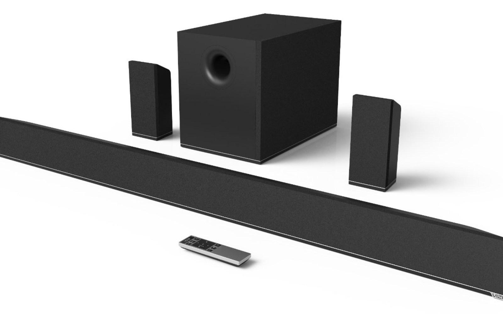 VIZIO 5.1-Channel Bluetooth Soundbar system w/ wireless subwoofer: $300 shipped (Reg. $500)