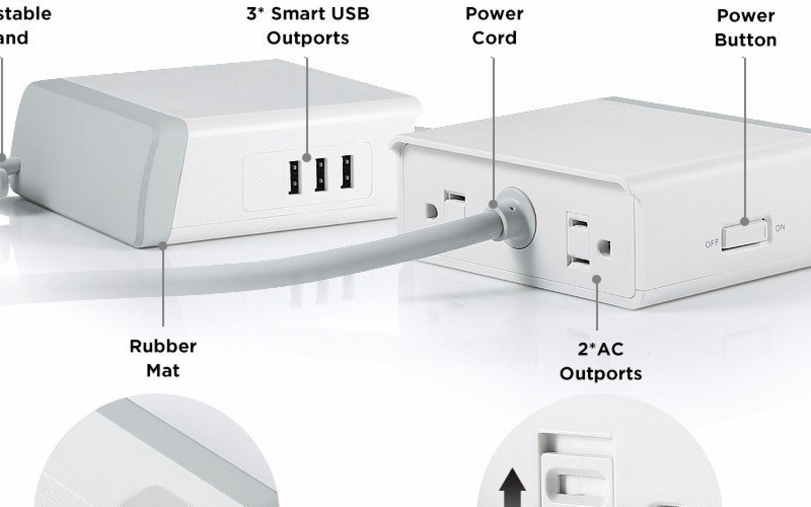 Quick Review: EasyACC 3 USB-port/2 AC-port surge protector is perfect for bedside, desk or travel: $25 shipped