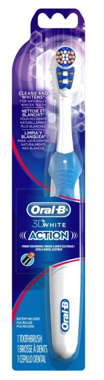 Oral-B 3D White Power Toothbrush (AA battery powered)