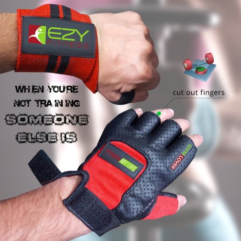 Ezy Fitness Weight Lifting Gloves & Weightlifting-2