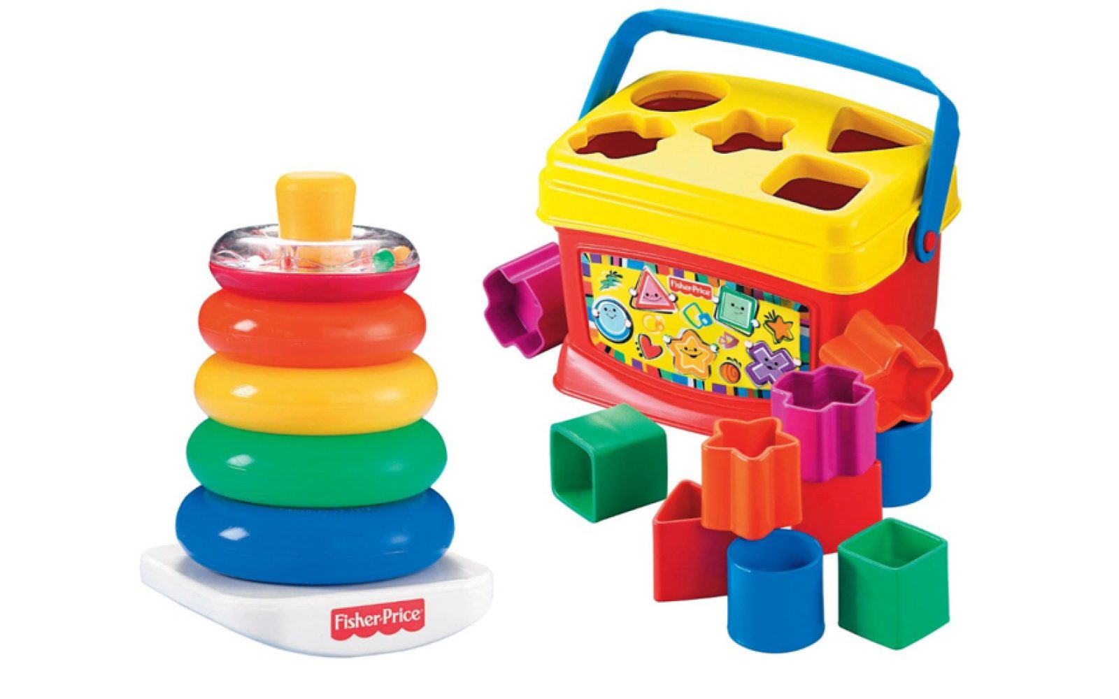 Fisher Price Toys Babys First Blocks Plus Brilliant Basics Rock A Laugh Learn Smart Phone Stack For 849 8 More