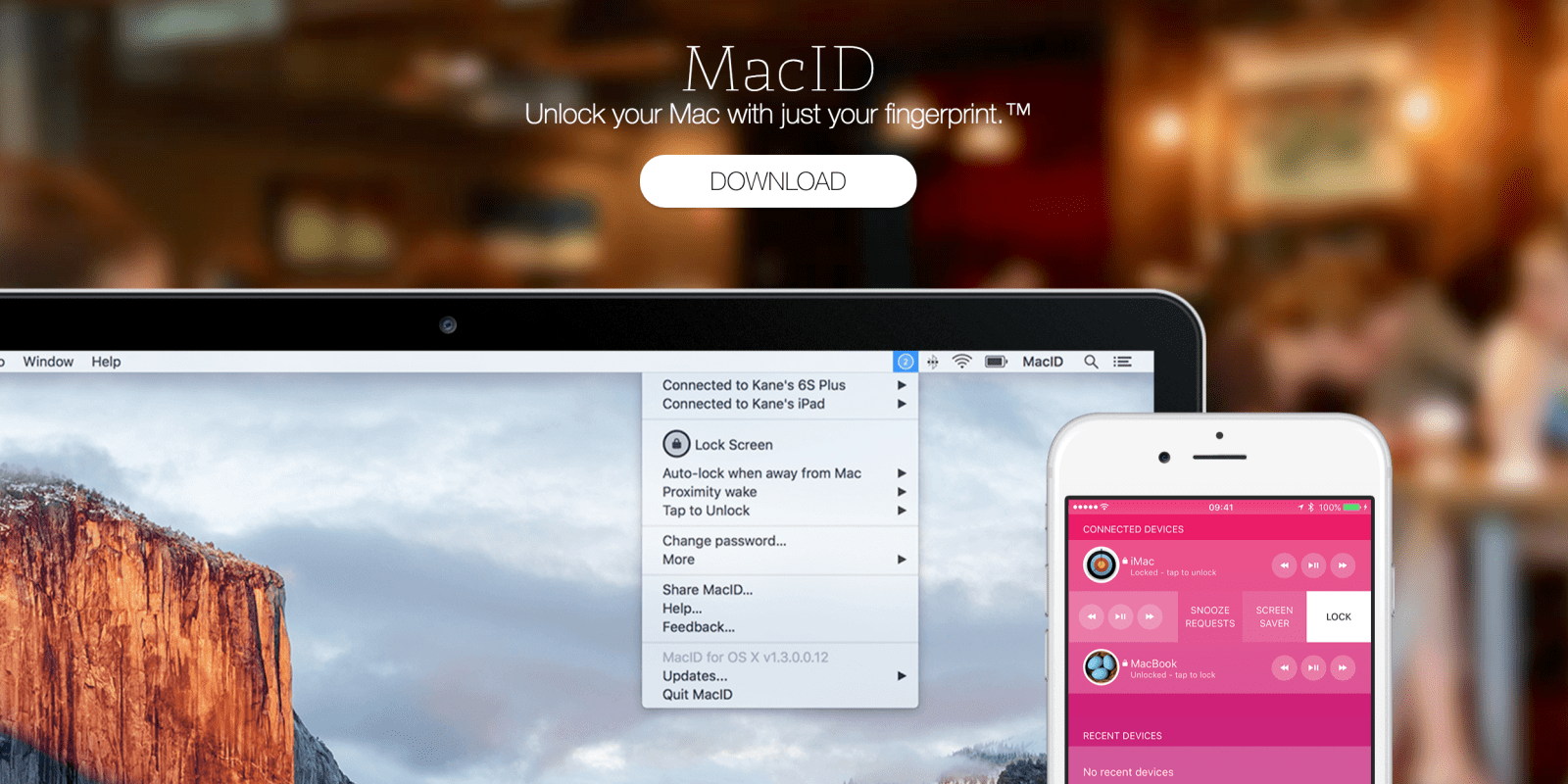 MacID for iOS: unlock your Mac using iPhone or Apple Watch