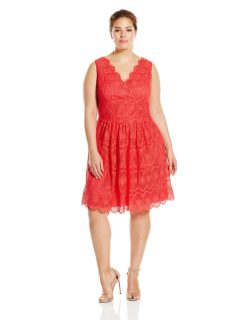 Adrianna Papell Plus Size Fit and Flare Dress