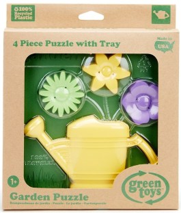 Green Toys 100 percent recycled plastic 3d garden puzzle