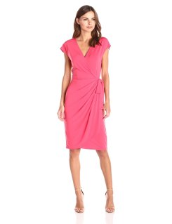 Lark&Ro cap sleeve wrap dress