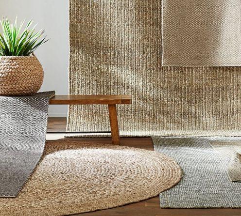 Pottery barn jute natural fiber rugs