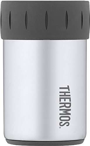 Thermos Stainless Steel Beverage Can Insulator in Gunmetal Gray