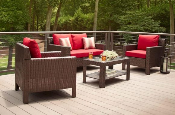 hampton bay beverly 4-piece outdoor seating