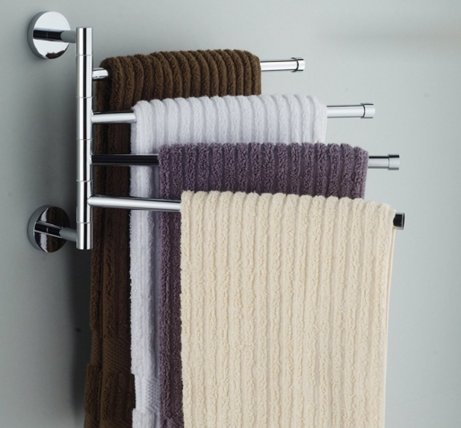ioven wall mounted stainless steel swing arm towel rack