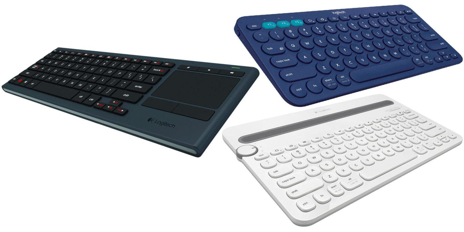 Your choice of highly-rated Logitech Bluetooth keyboards for