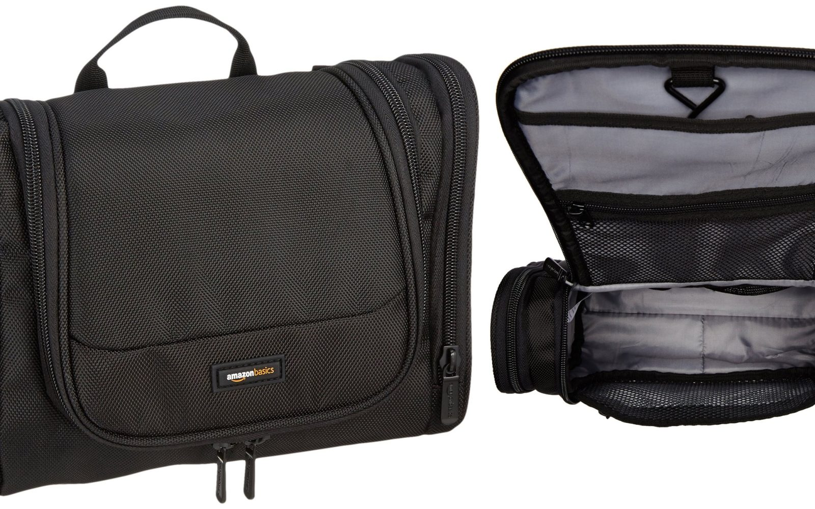 The AmazonBasics Hanging Toiletry Kit is the perfect travel companion at   12 Prime shipped (Reg.  19) 43a5116b77260