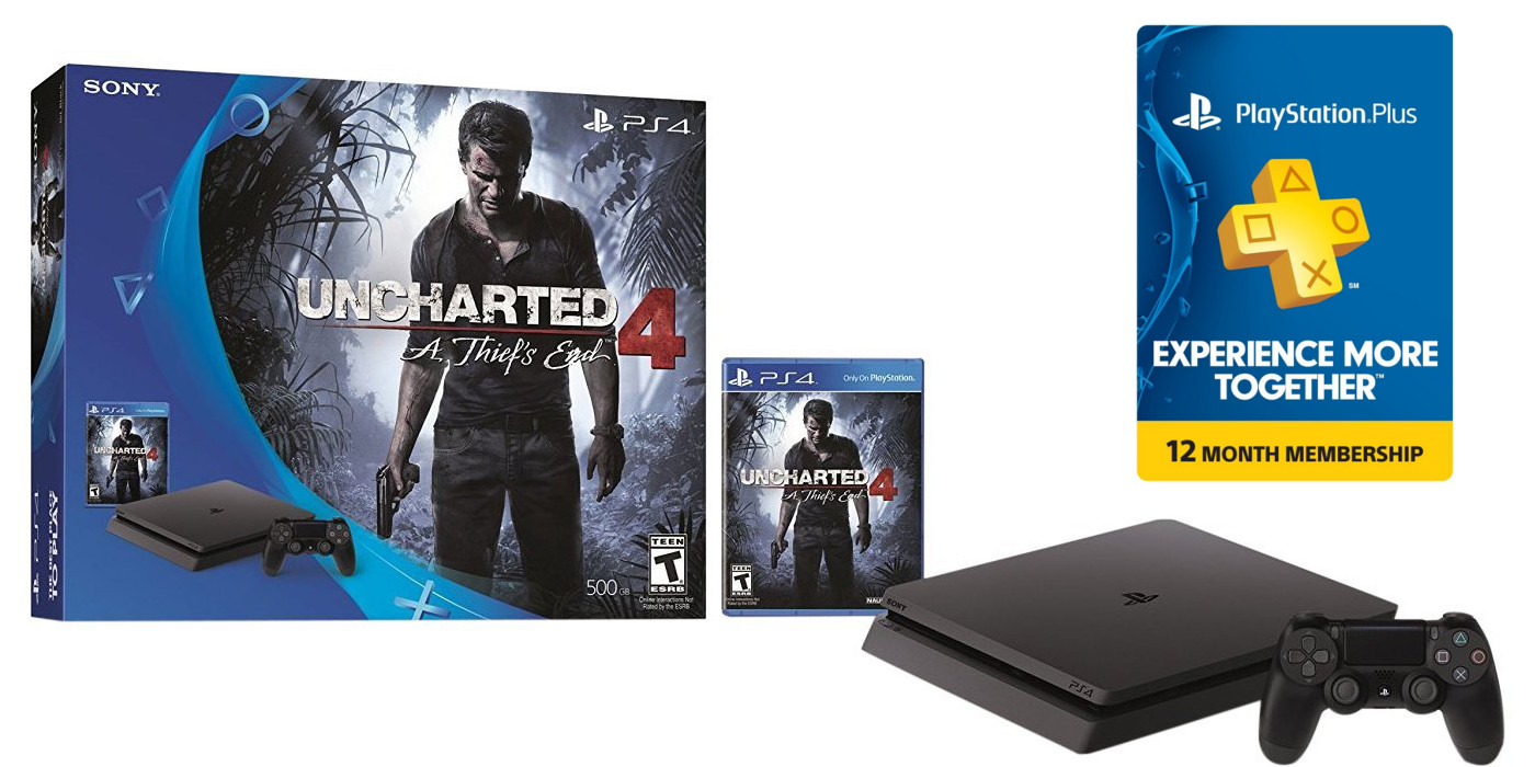 Games/Apps: PS4 Slim Uncharted Bundle + 1yr PS Plus $269