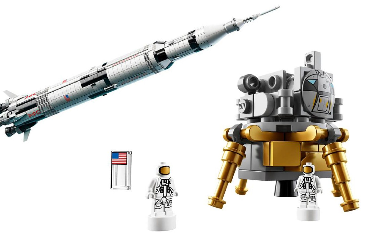 Lego Returns To Space With New 2000 Piece Apollo Saturn V Set