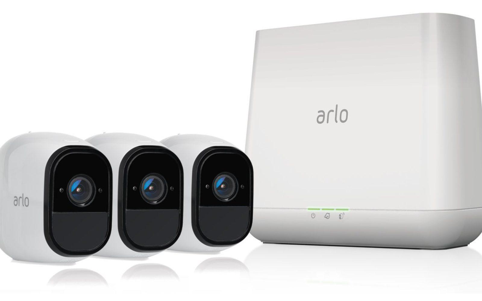 Netgear Arlo Pro 3-Camera Surveillance System: $500 (Amazon