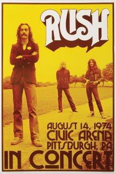 Rush Vintage Concert Poster