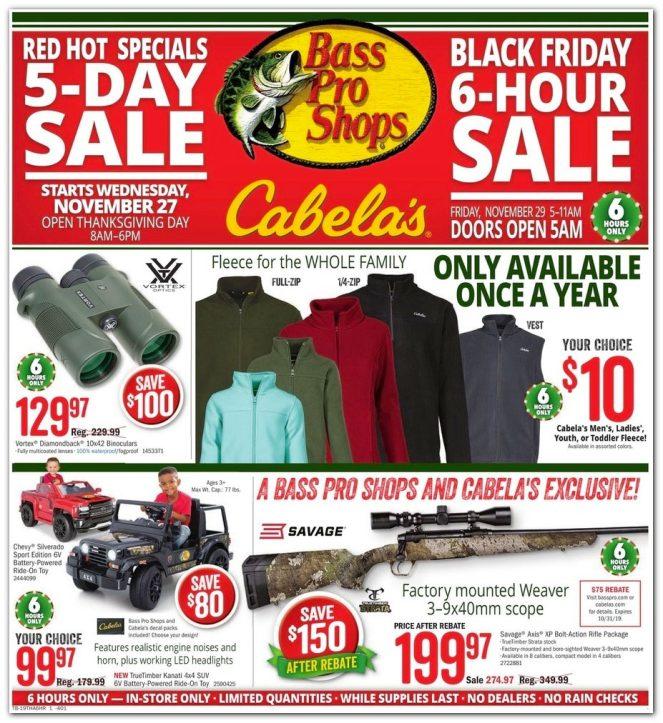 Bass Pro Shops Cabelas Black Friday Ad 2019 1