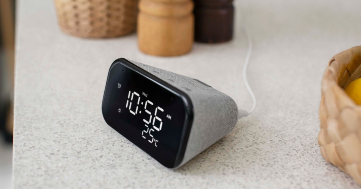 Lenovo Smart Clock Essential is the perfect bedside smart assistant at $30 shipped - 9to5Toys