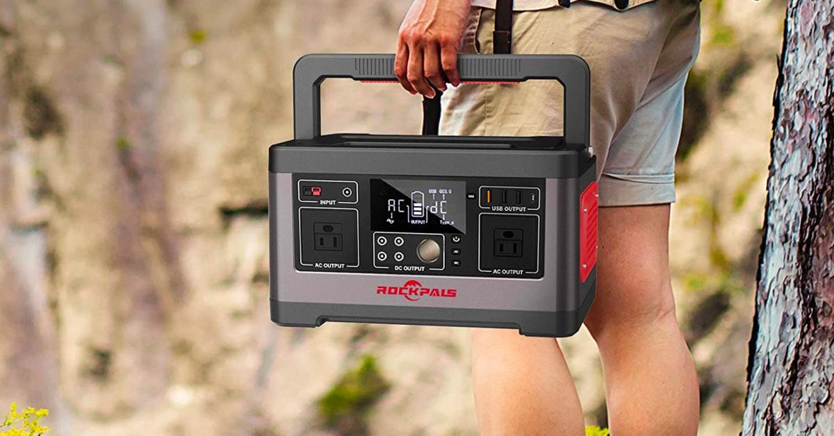 ROCKPALS' 500W portable power station has AC plugs, 18W USB-C PD, much more at $110 off - 9to5Toys