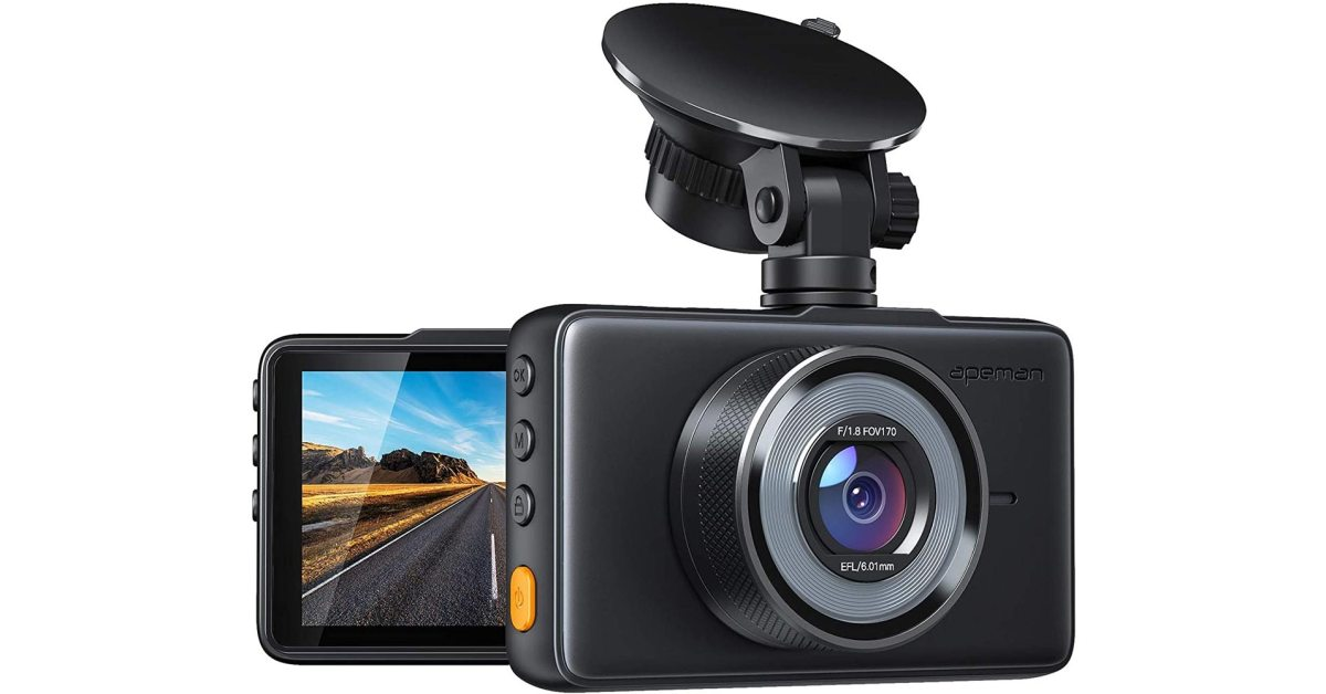 Score this highly-rated 1080p dash camera at 33% off on Amazon, now $30