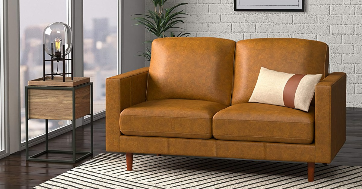 Amazon's high-end Leather Loveseat and Modern Sofa are up to $309 off