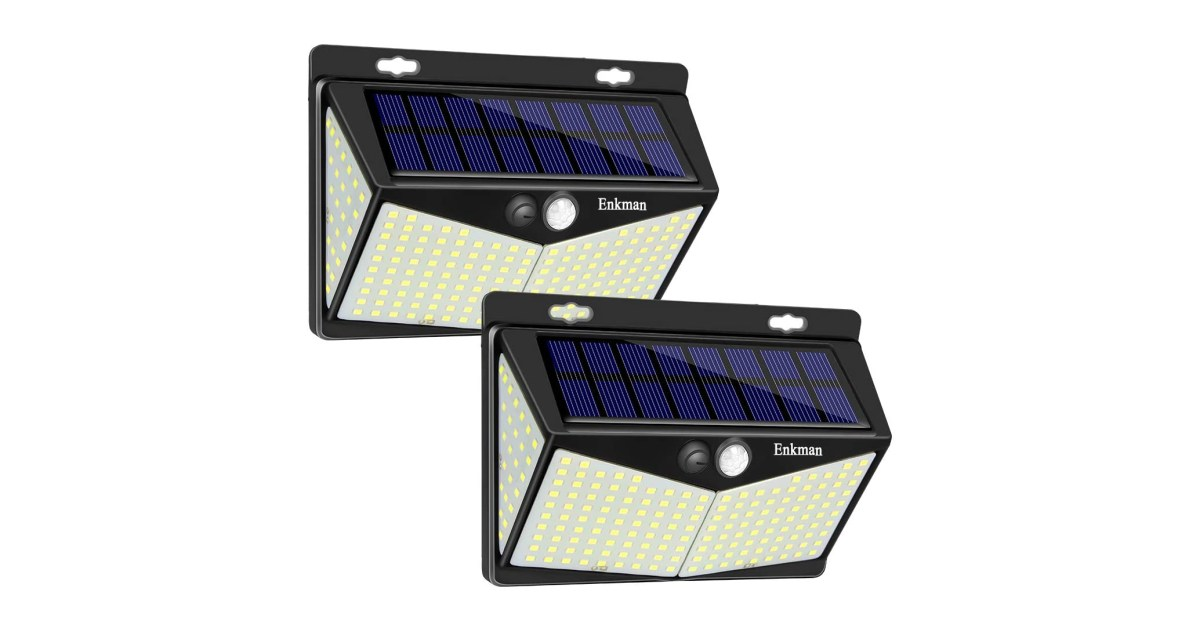 A 2-pack of solar-powered LED lights adds 6,400-lumens of brightness to your yard for $19 - 9to5Toys