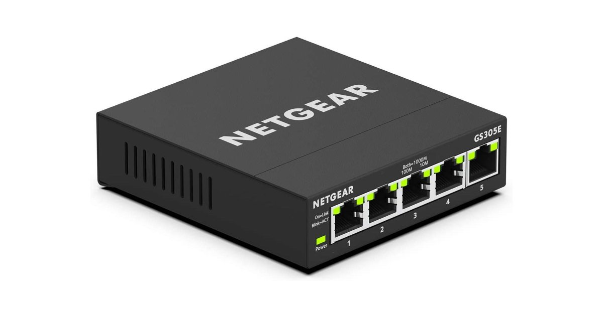 NETGEAR's 5-port managed Gigabit Ethernet switch controls your homelab at a low of $19