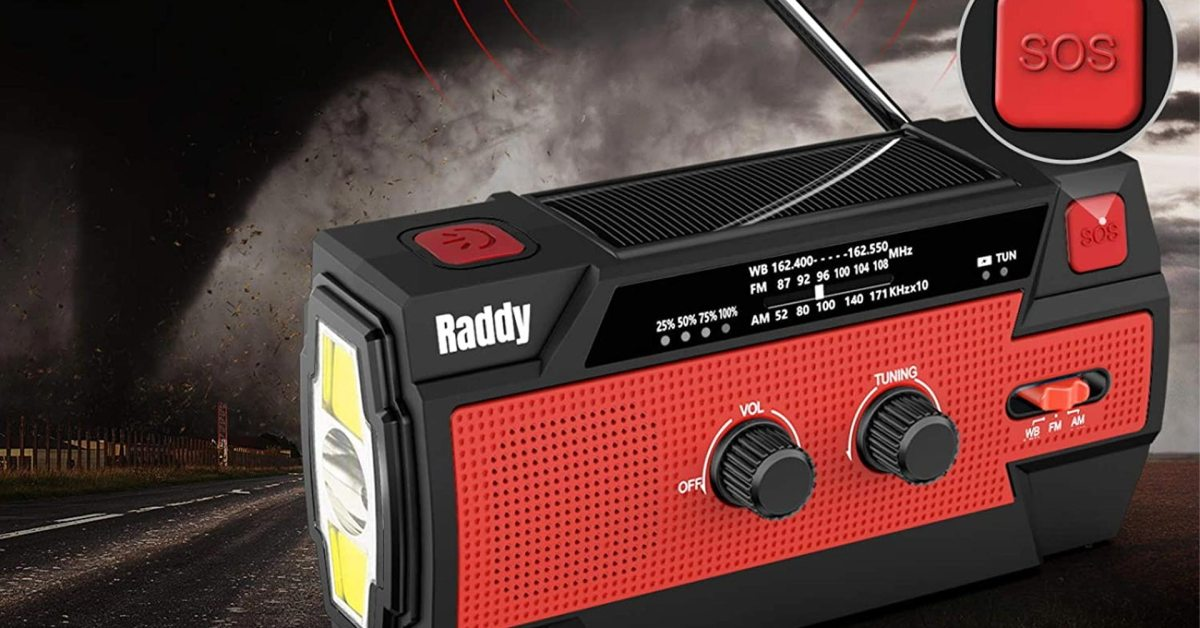 This solar-powered NOAA/AM/FM radio belongs in every emergency kit at $22 (39% off) - 9to5Toys