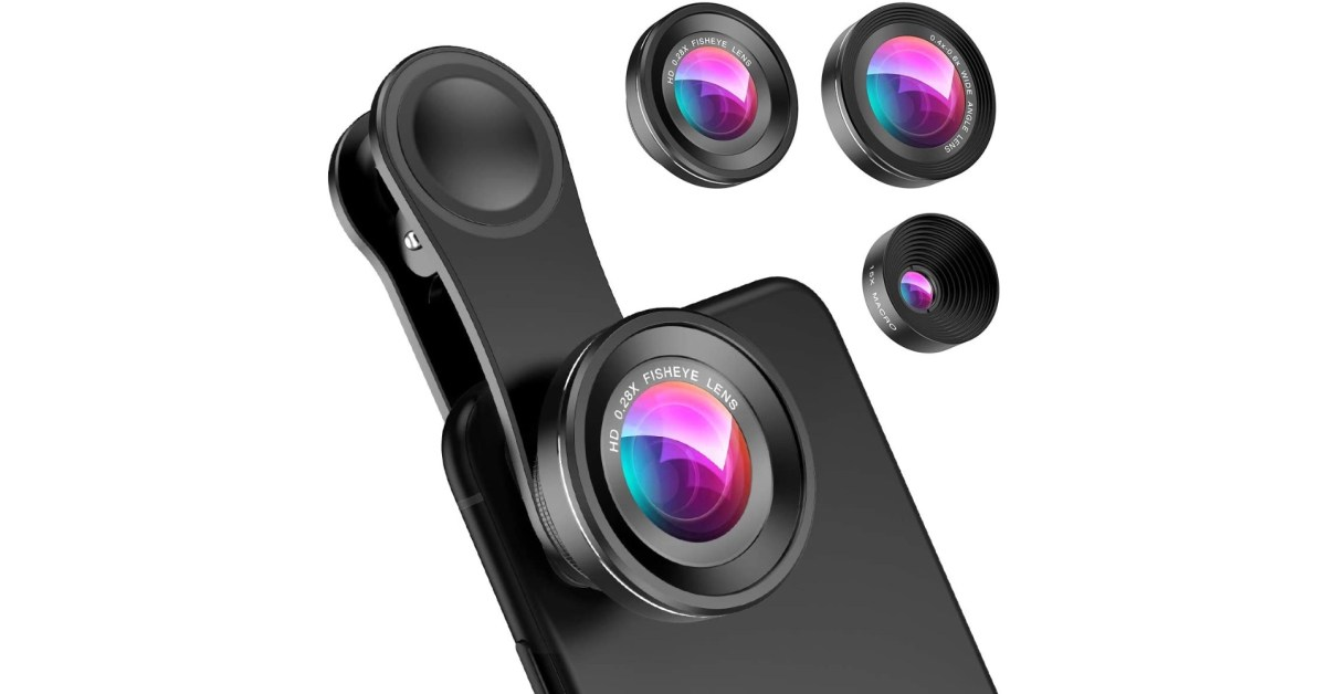 Add telephoto + more to your iPhone 12/mini with this 3-in-1 smartphone lens kit for $12 - 9to5Toys