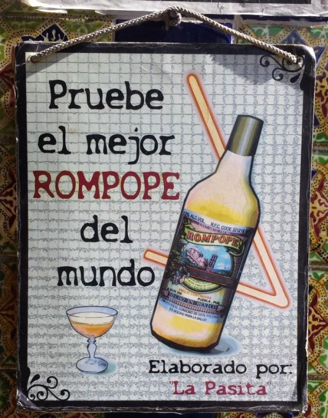 Rompope at La Pasita in Puebla