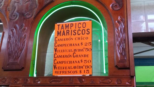 Tampico Mariscos Mercado Hidalgo Veracruz