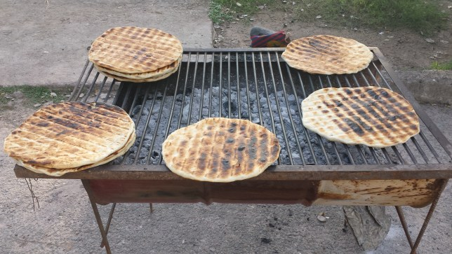 Street food Argentina, Tortilla a la parrilla