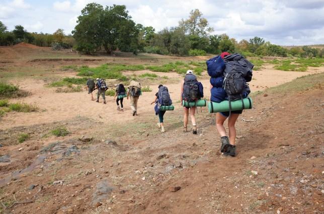 Olifants backpacking trail at Kruger National Park
