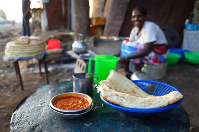 Street food in Ethiopia