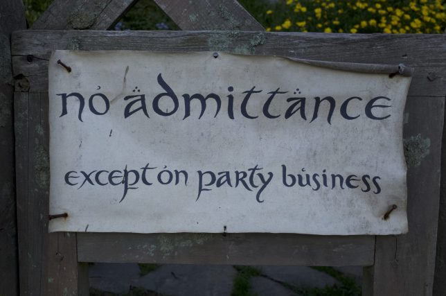No Admittance Hobbiton
