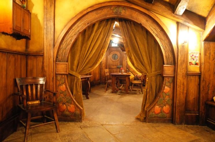 Inside the Green Dragon Inn at Hobbiton