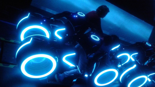 Shanghai Disney Tron ride