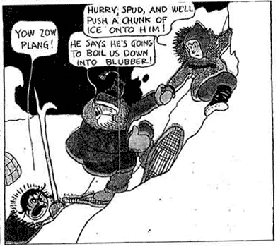 """Racist depiction of Inuits in Frank King's """"Bobby Make Believe"""""""
