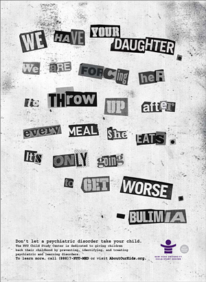 Bulimia ransom note