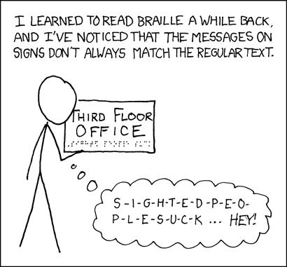 Braille webcomic