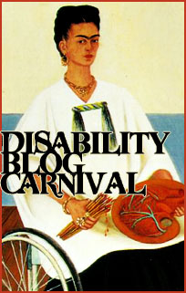 Disability Blog Carnival icon of Frida Kahlo