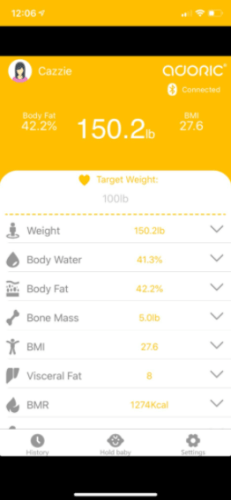 Bluetooth Smart Fat Scale, Smart BMI Digital Weight Scale, Body Composition Analyzing with Mobile Phone App, 400lbs photo review