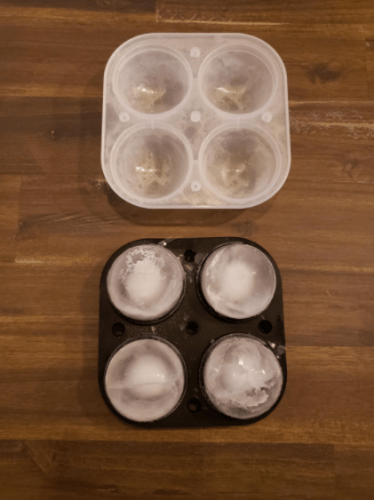 Adoric Ice Cube Trays, 2.5inch Large Ice Ball Maker with Lids, Square Ice Cube Mold for Cocktails, Whiskey and Drinks, Funnel Included photo review