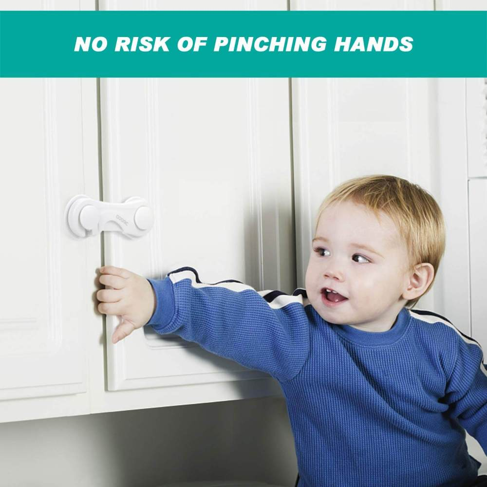 Adoric Magnetic Cabinet Locks, Baby Proofing Safety Locks