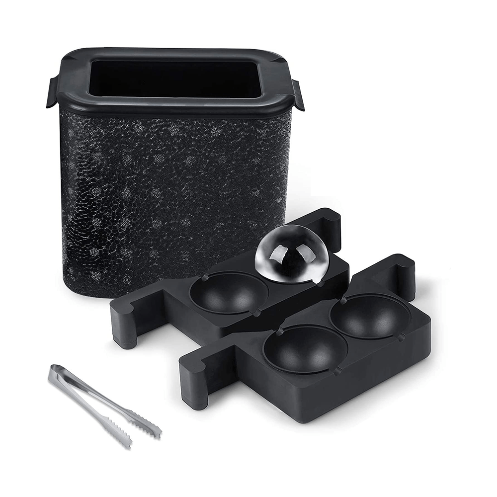 Ice cube tray, a 2-piece large ice cube maker, ice cube square tray, making 8 giant ice cubes for whiskey and cocktails, bars and homes