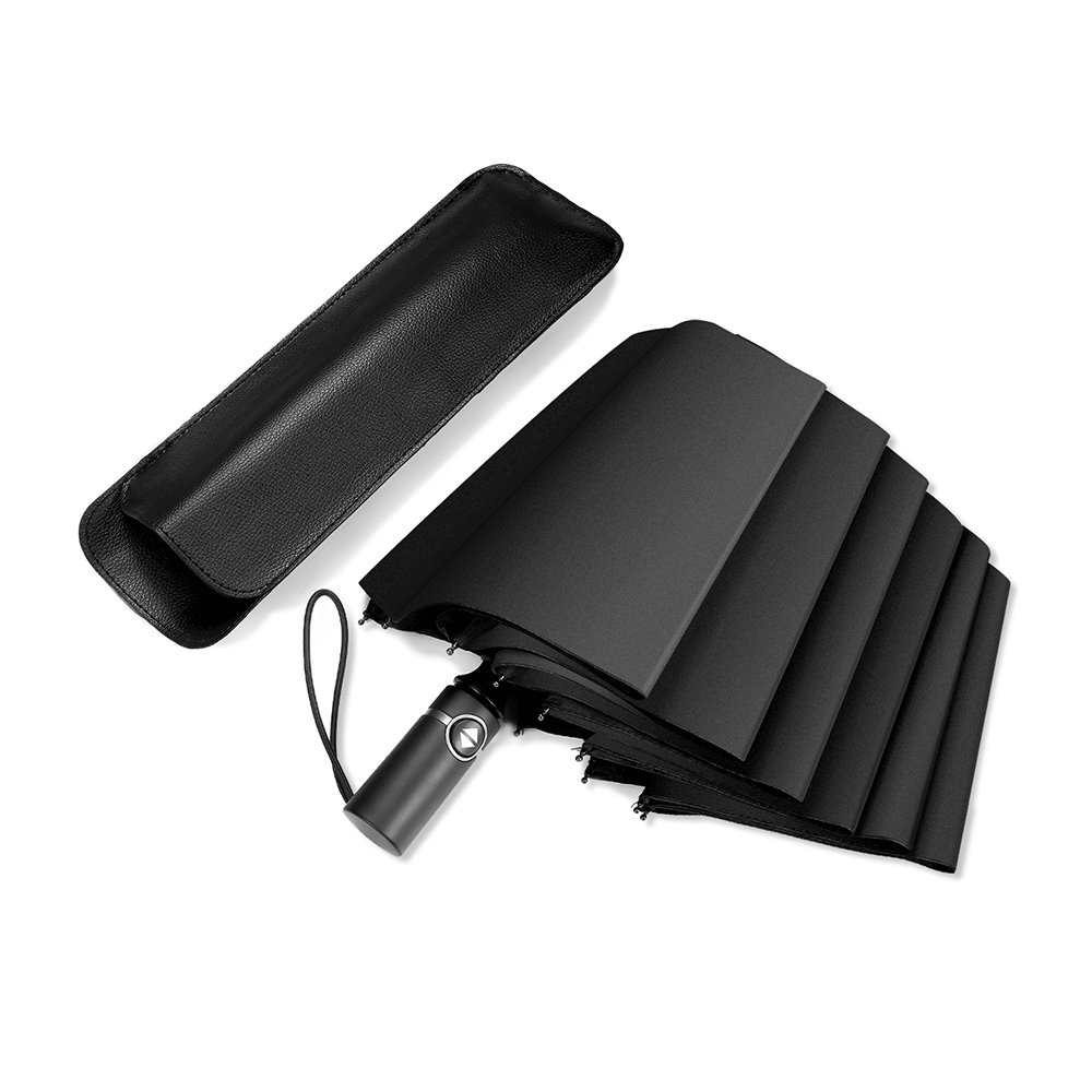 Single pack black 10-bone automatic foldable umbrella
