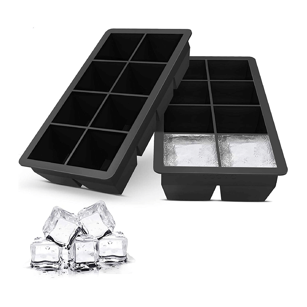 2 pieces of BHD323-1 black silicone 6 round hockey pucks + 6 square ice trays.jpg