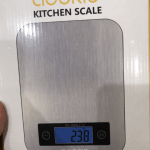 Adoric Kitchen Scales with LCD Display and Practical Household Scales with Tare Function Digital Scales for Max. 10 kg, black and silver photo review