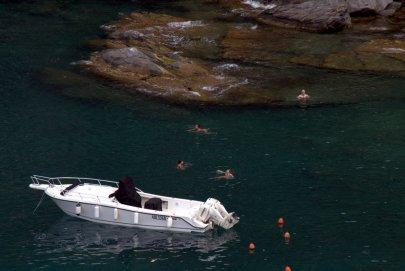 Swimming in Vernazza