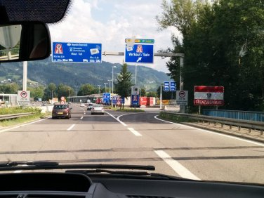 Crossing from Germany to Austria